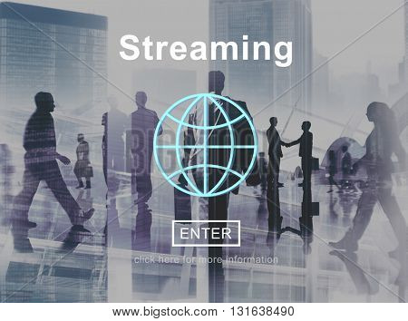 Streaming Internet Media Computer Download Concept