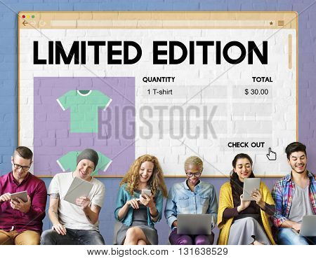 Limited Edition Amount Commerce Retail Unique Concept