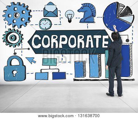 Corporate Business Organization Management Concept