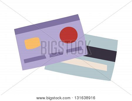 Flat vector money card isolated on white background. Vector money card icon. Money business cards for payments