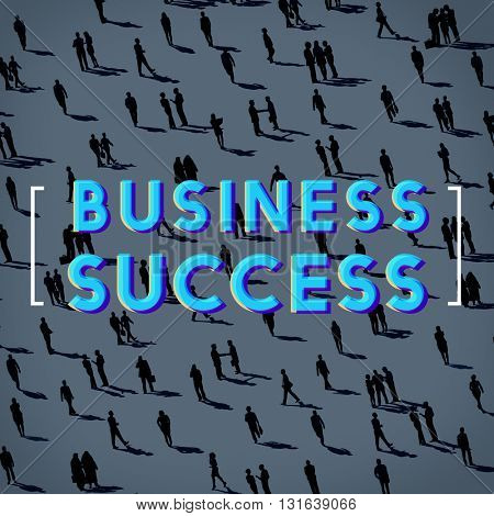 Business Success Achievement Growth Graphic Concept