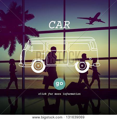 Car Travel Destination Trip Adventure Traveling Concept