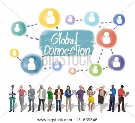 Global Connection Communication Interconnection Networking Concept