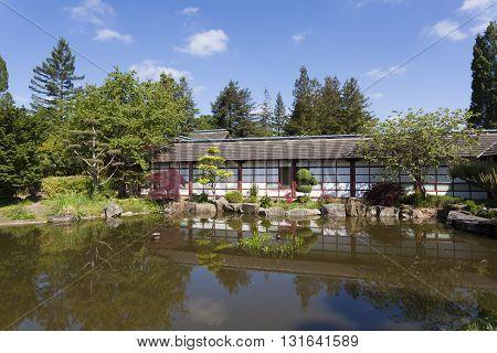 Japanese garden Nantes Pays de la Loire France