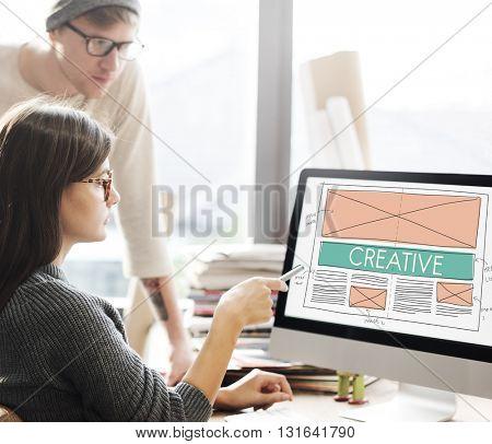 Creative Creativity Web Design Layout Concept
