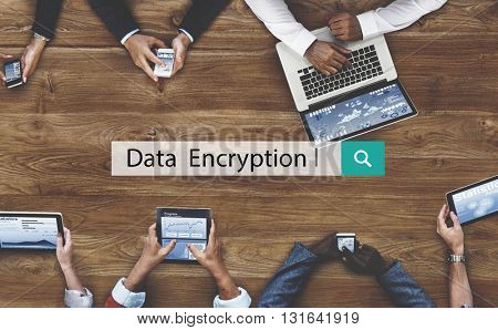 Data Encryption Algorithm Identity Privacy Safety Concept