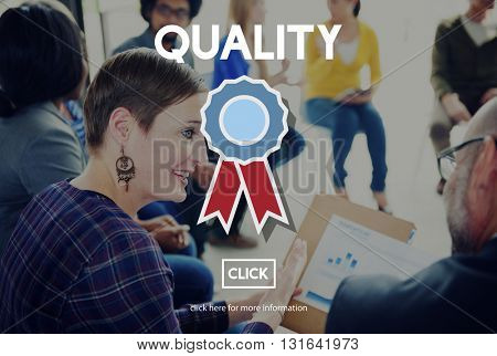 Quality Service Best Guarantee Value Concept