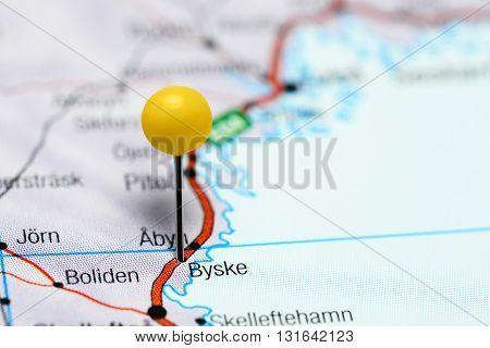 Byske pinned on a map of Sweden