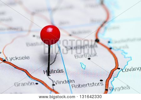 Hallnas pinned on a map of Sweden