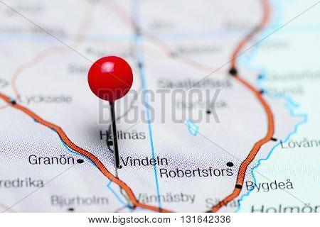 Vindeln pinned on a map of Sweden