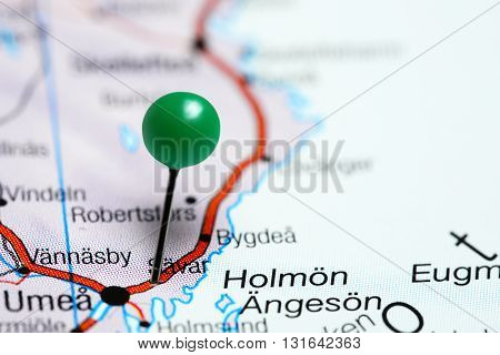 Savar pinned on a map of Sweden