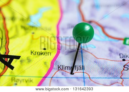 Klimpfjall pinned on a map of Sweden