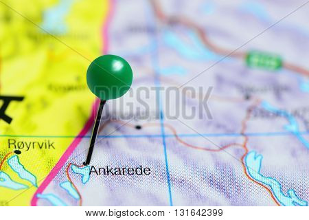 Ankarede pinned on a map of Sweden