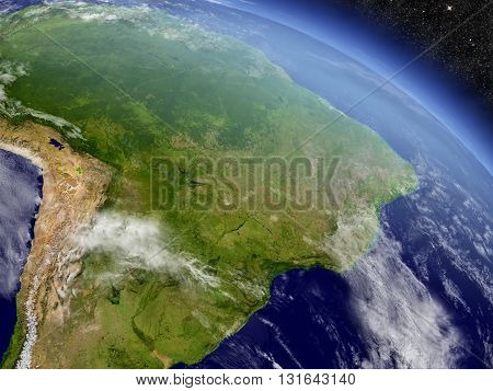 Brazil From Space