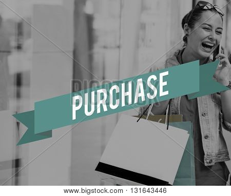 Purchase Buying Commerce Market Procure Retail Concept