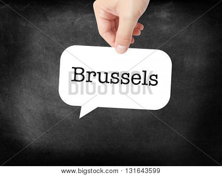 Brussels written on a speechbubble