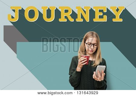 Woman Journey Travel Adventure Concept