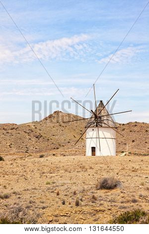 Traditional windmill, Cabo de Gata natural park, Almeria province