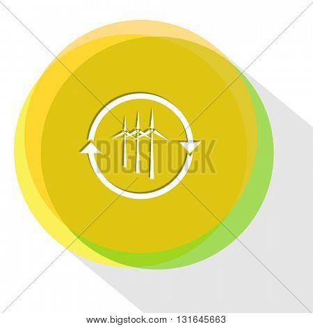 wind turbine. Vector icon.