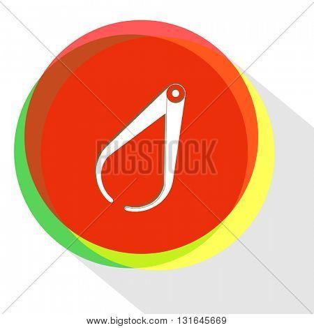 caliper. Vector icon.