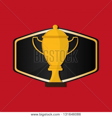 Champion concept with icon design, vector illustration 10 eps graphic.