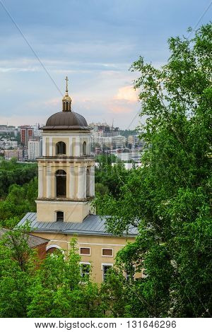 Belgorod city. Russia. View of the Church of St. Michael (1844 year of construction).
