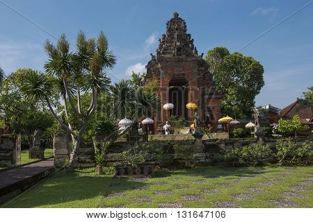 An ancient temple located in the heart of Bali Indonesia