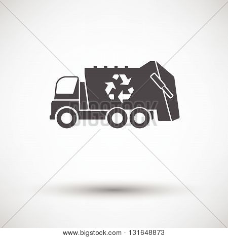Garbage Car With Recycle Icon