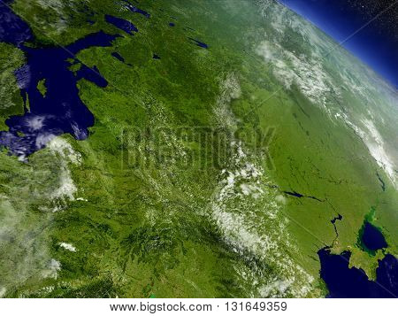 East Europe From Space