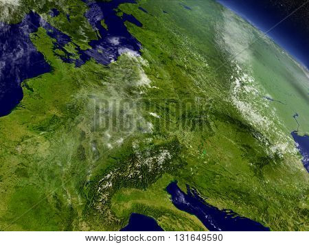 Central Europe From Space