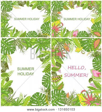 Summery tropical green backgrounds