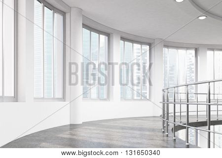 Interior With Railing Side