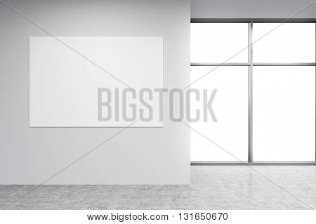 Blank Billboard In Room