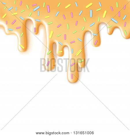 Cool yummy tasty cream sweet smudge fluid strew background
