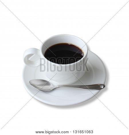 The Coffee cup isolated on white background