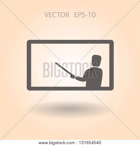 Flat  icon of presentation