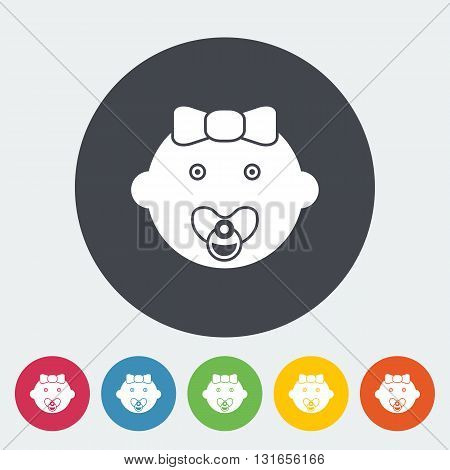 Baby girl icon. Flat vector related icon for web and mobile applications. It can be used as - logo, pictogram, icon, infographic element. Vector Illustration.