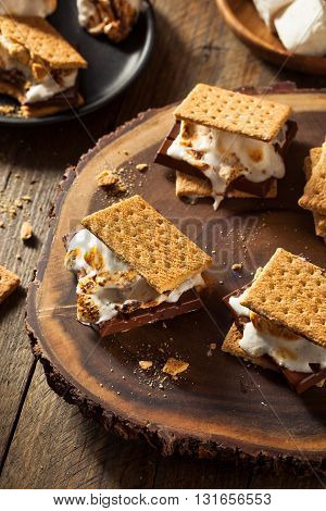 Homemade Gooey Marshmallow S'mores