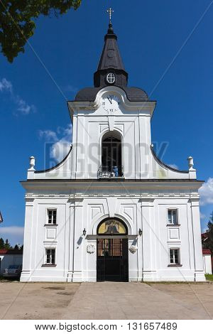 Bell tower and gate. Lavra order of the Annunciation in Poland