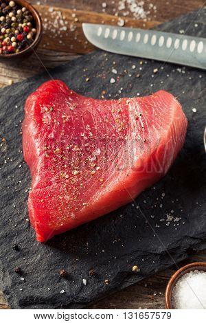 Raw Organic Pink Tuna Steak