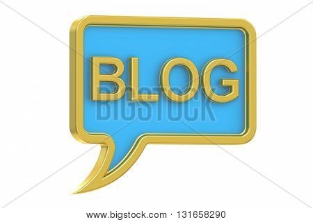Blog concept 3D rendering isolated on white background