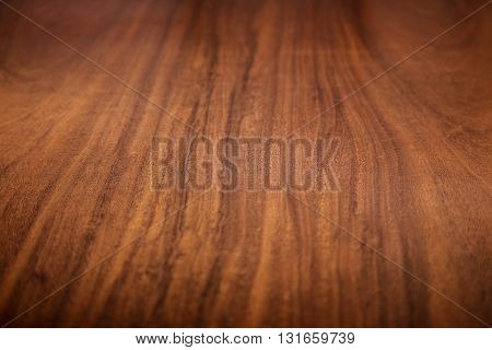 Background of brown old natural wood pattern texture Closeup surface of retro pine red logs inside vintage light warm interior with shadows