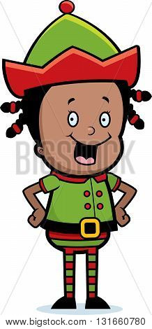 Christmas Elf Smiling