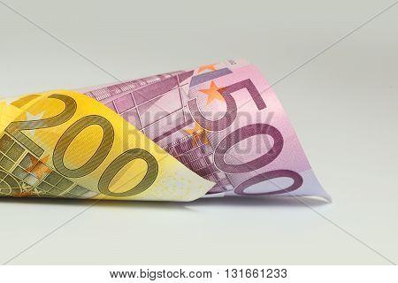 Euro Money Closeup