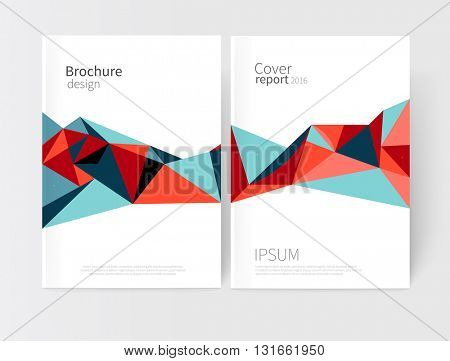 Vector set abstract geometric background/ green and blue Diagonal lines. Modern White business brochure cover template. vector-stock illustration EPS 10