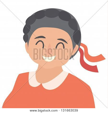 Old woman icon vector.Woman icon illustration.Face of old woman icon.Face of elder people icons cartoon style.Pensioner people head flat icons.Isolated avatar white background