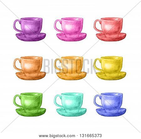Watercolor Cup Set