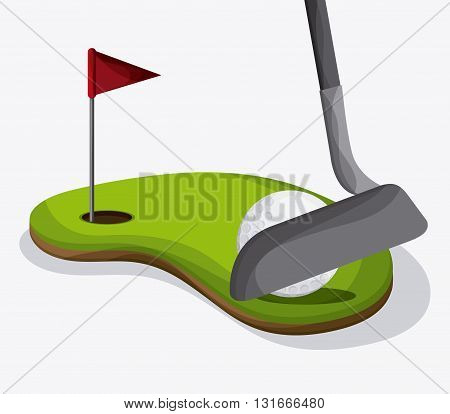 Golf concept with icon design, vector illustration 10 eps graphic.