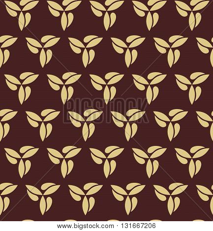 Seamless vector ornament. Modern geometric pattern with repeating golden elements