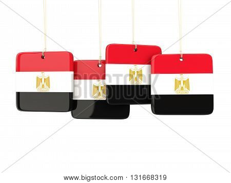 Square Labels With Flag Of Egypt